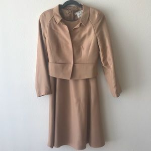 Matching Tan Dress and Jacket - EUC